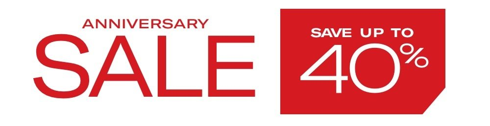 Anniversary Sale Starts Now - Save Up To 40%