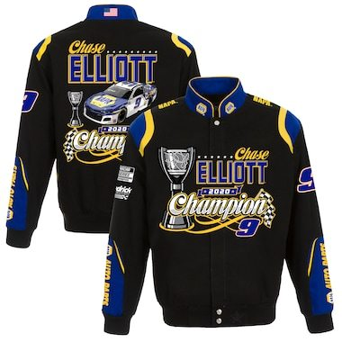 Chase Elliott JH Design 2020 NASCAR Cup Series Champion Full-Snap Twill Jacket