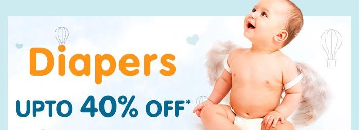 Diapers UPTO 40% OFF*