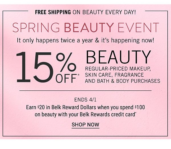 15 Off Spring Beauty Belk Email Archive
