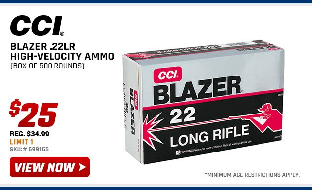 25 cci blazer 22lr high velocity ammo other 1 day deals sunday