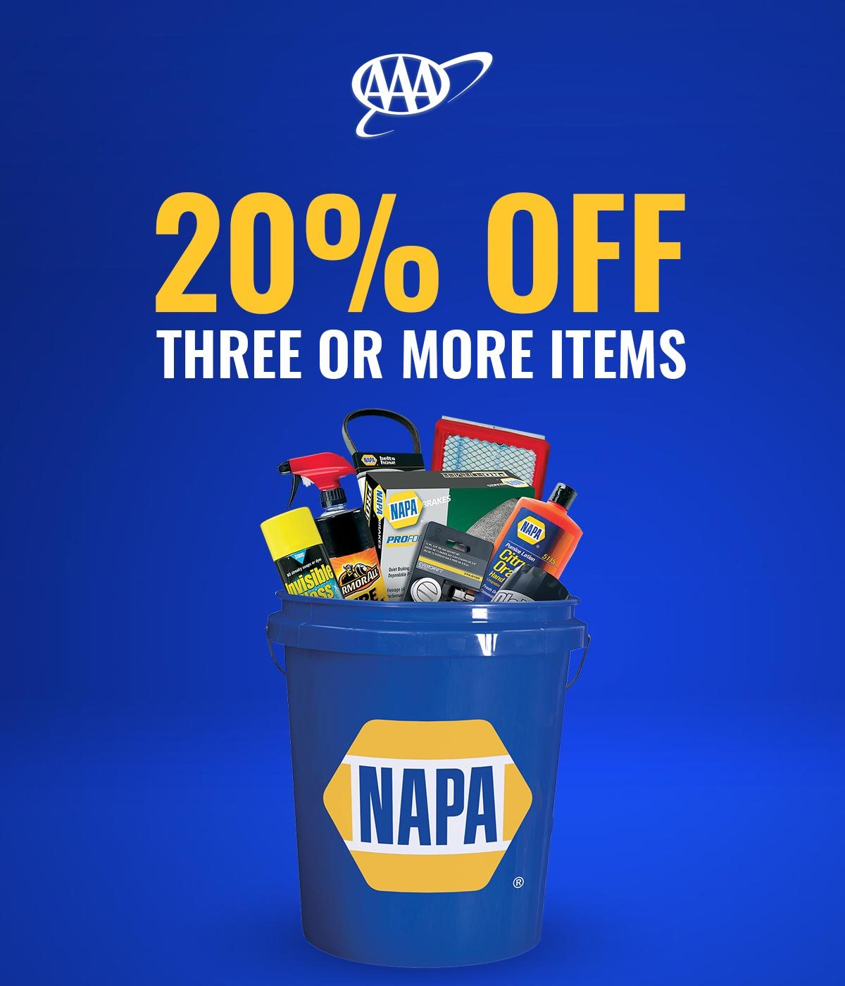 AAA members, the NAPA Bucket is waiting for you - NAPA AUTO PARTS