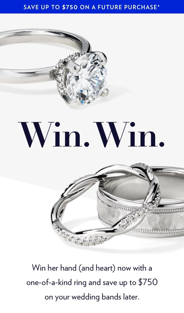 Shop Engagement Rings Now Save Up To 750 On Your Wedding Rings Blue Nile Email Archive