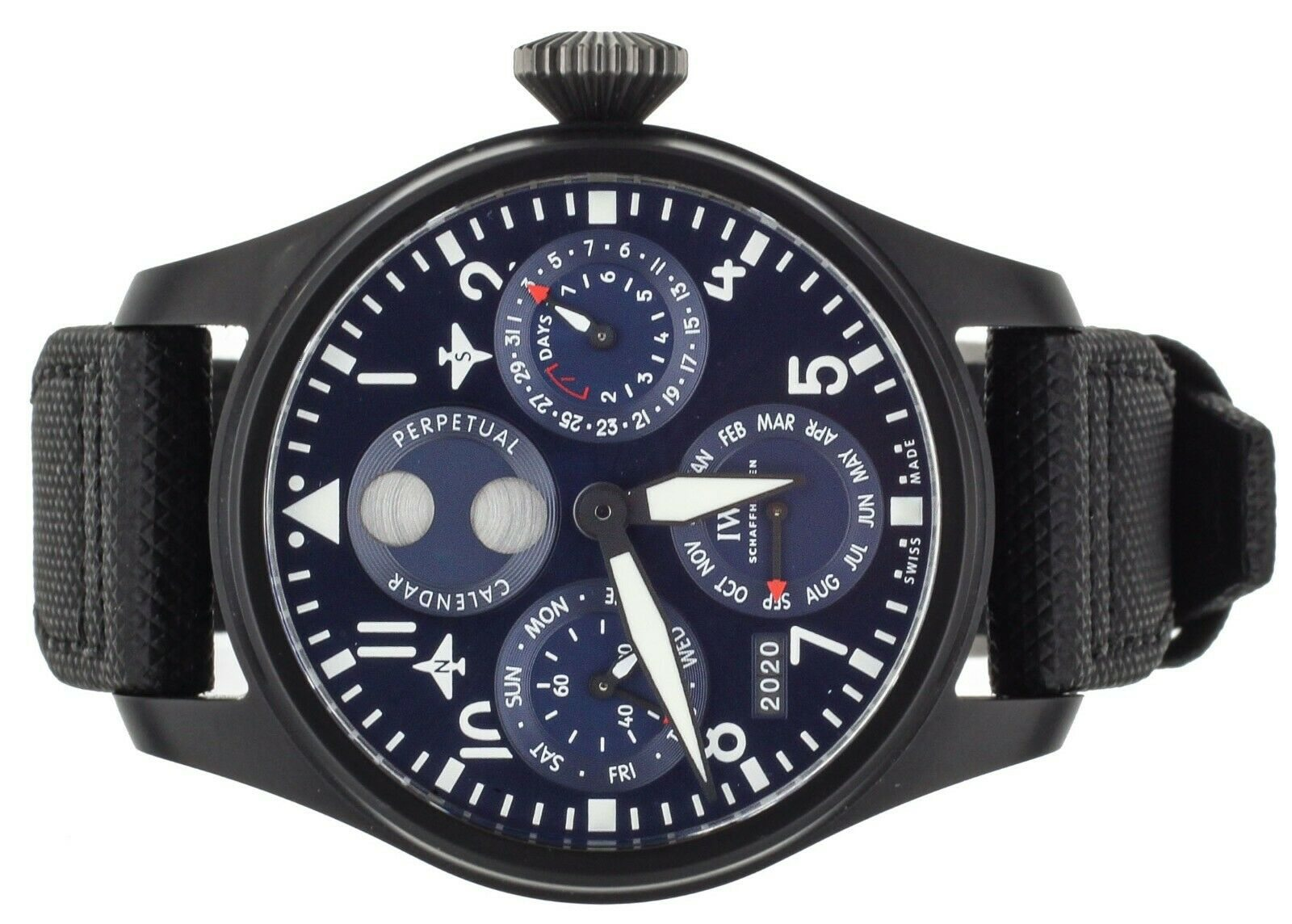 Image of IWC Big Pilot Perpetual Calendar Rodeo Drive 46mm Blue IW503001 Complete Set