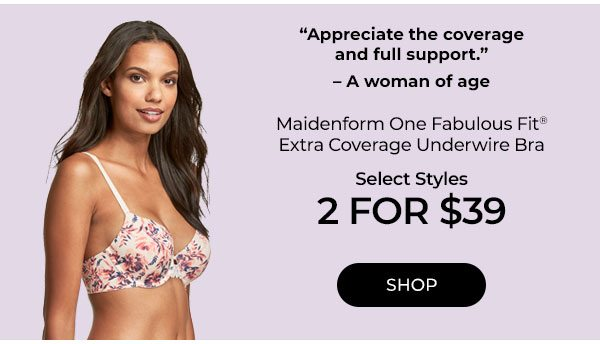 Select Maidenform Bras 2/$39 - Turn on your images