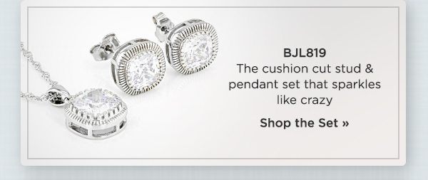 Can't miss Bella Luce finds...shop the stud & pendant set