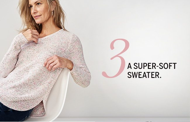 The Love List. 5 pieces we absolutely adore... for Valentine's Day & more. 3. A super-soft sweater.