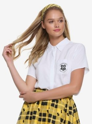 274f41dd Riverdale Betty Tie Front Girls Short-Sleeve Woven Button-Up Hot Topic  Exclusive $34.90, Harry Potter White Hogwarts Girls Uniform Button-Up Shirt