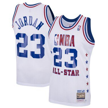 Mitchell & Ness Michael Jordan White Eastern Conference 1988 All-Star Hardwood Classics Authentic Jersey