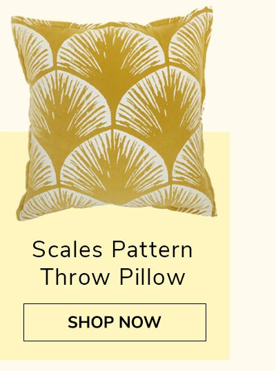 Scales Pattern Throw Pillow | SHOP NOW
