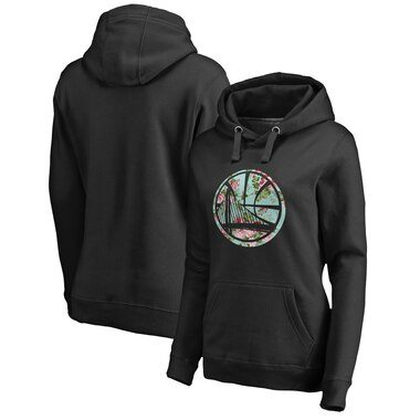 Golden State Warriors Fanatics Branded Women's Lovely Pullover Hoodie - Black