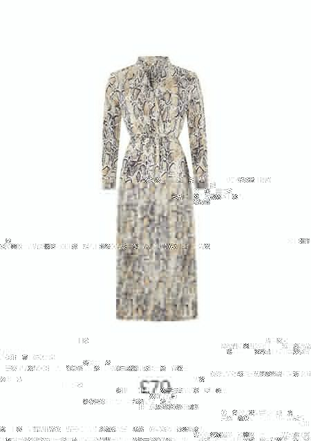 KAA SNAKE PRINT SATIN MIDI DRESS £70