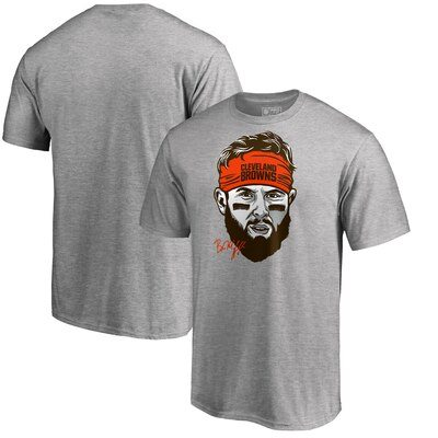 Baker Mayfield Cleveland Browns NFL Pro Line by Fanatics Branded Baker Mayfield Headband T-Shirt – Heather Gray