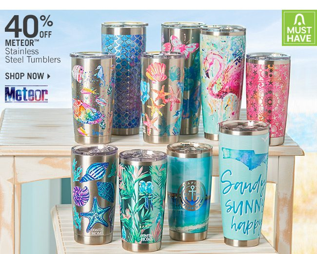 Shop 40% Off Meteor Stainless Steel Tumblers