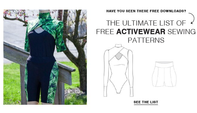 THE ULTIMATE LIST OF FREE ACTIVEWEAR SEWING PATTERNS