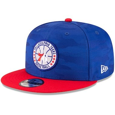 New Era Philadelphia 76ers Royal/Red 2018 Tip-Off Series Two-Tone 9FIFTY Adjustable Hat