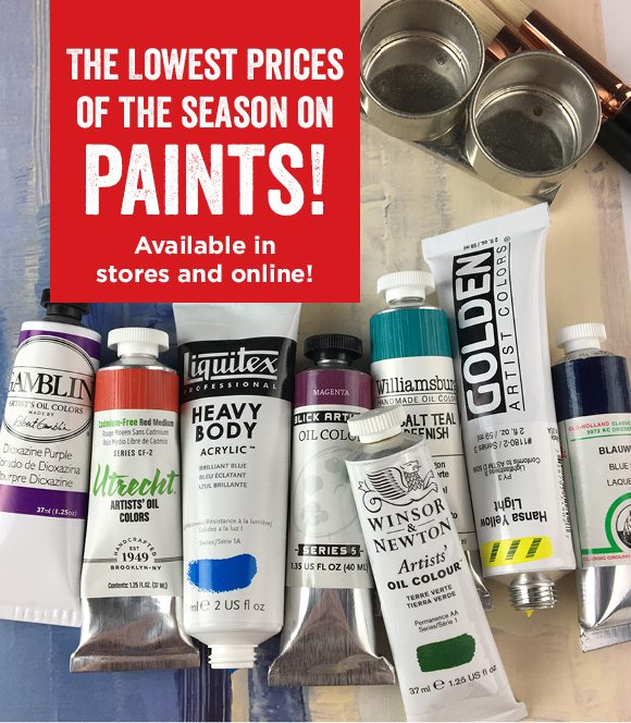The lowest prices of the season on paints! Available in stores and online!