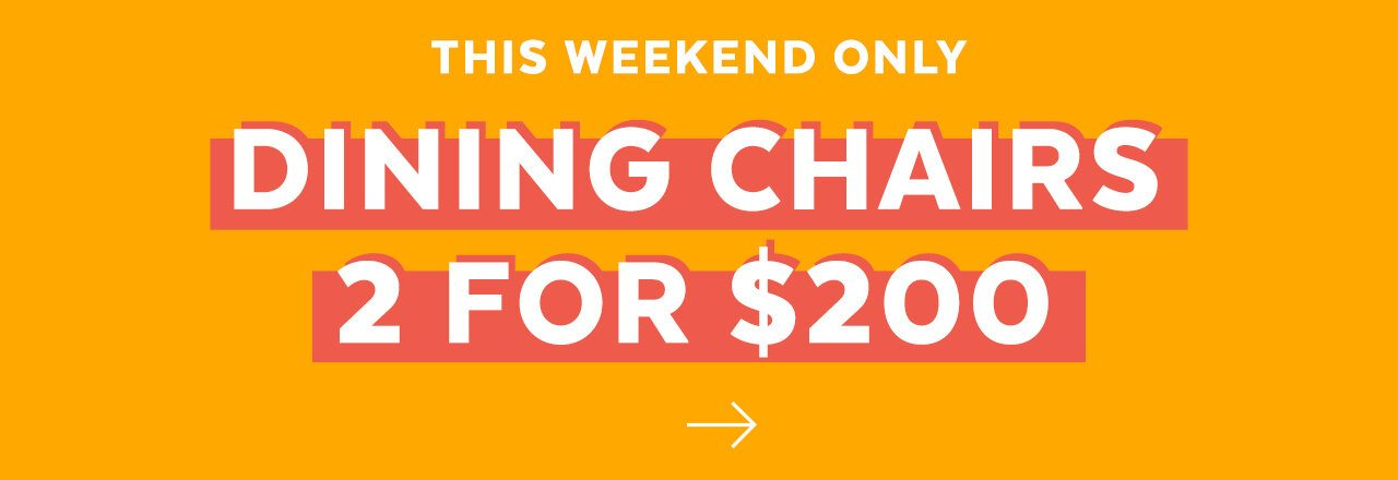 Weekend Dining Chair Sale