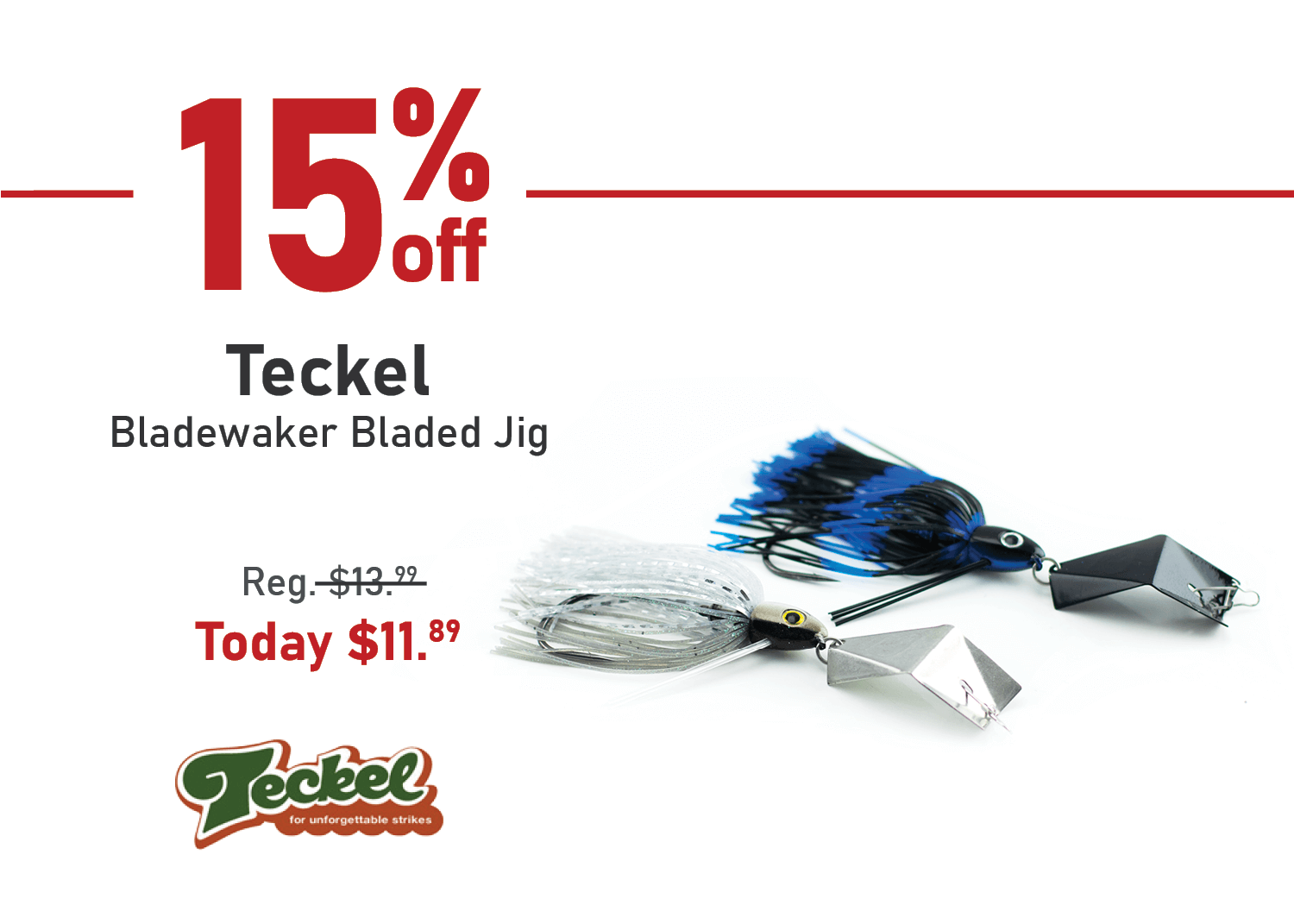 Save 15% on the Teckel Bladewaker Bladed Jig
