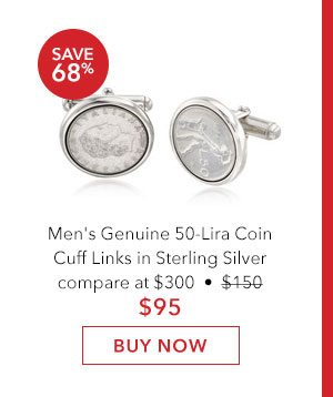 Men's Lira Coin Cuff Links. Buy Now