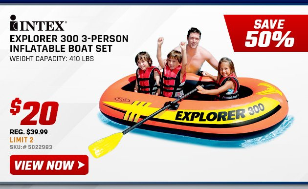 $20 Intex Inflatable Boat Set + Other 1 Day Deals, Friday