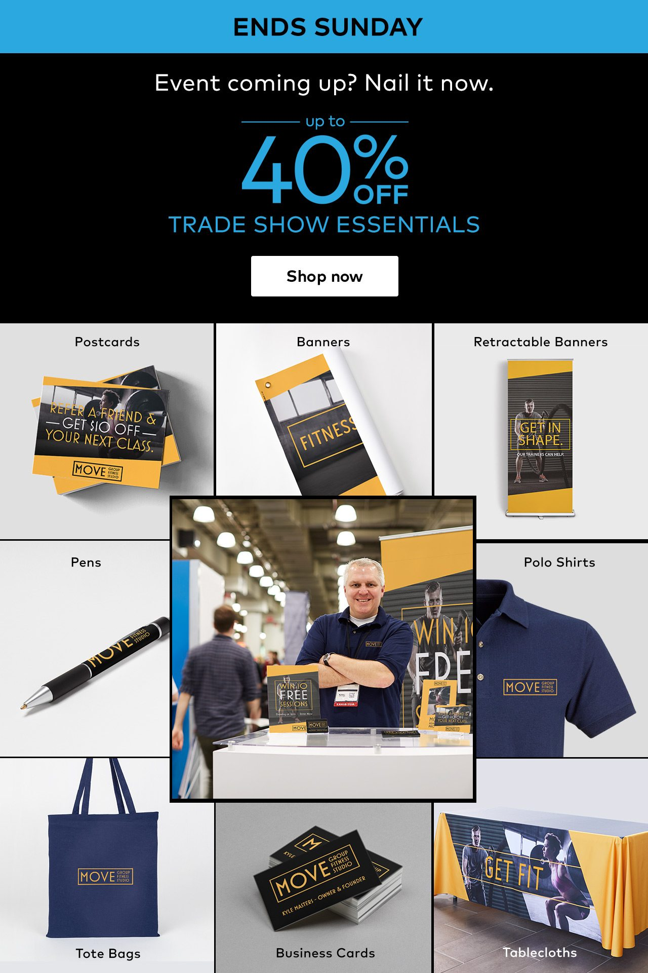 Steal the show | Up to 40% off trade show essentials