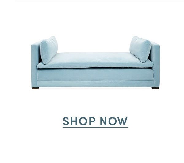 Elmore Daybed, Light Blue Crypton