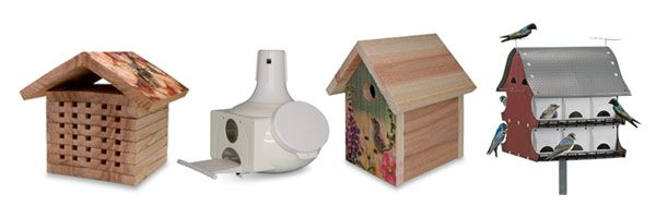 BIRD HOUSES AND ACCESSORIES