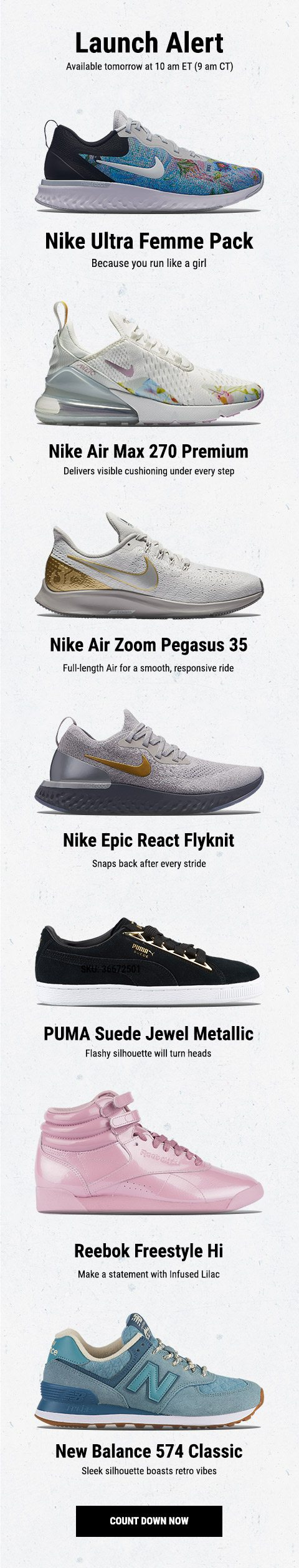 New releases from Nike, PUMA, Reebok, and New Balance – available ...