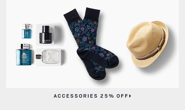 Accessories 25% Off