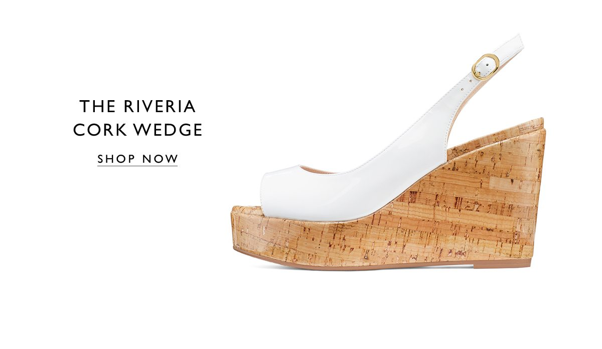 The RIVERIA Cork Wedge. SHOP NOW