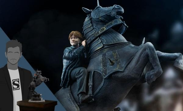 Ron Weasley at the Wizard Chess Deluxe (Harry Potter) 1:10 Scale Statue by Iron Studios