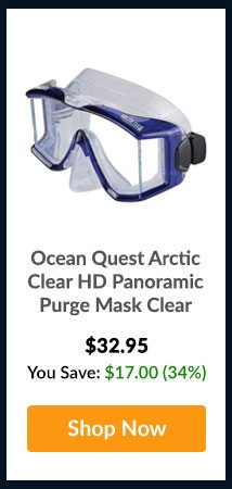 Ocean Quest Arctic Clear HD Panoramic Purge Mask Clear - Shop Now