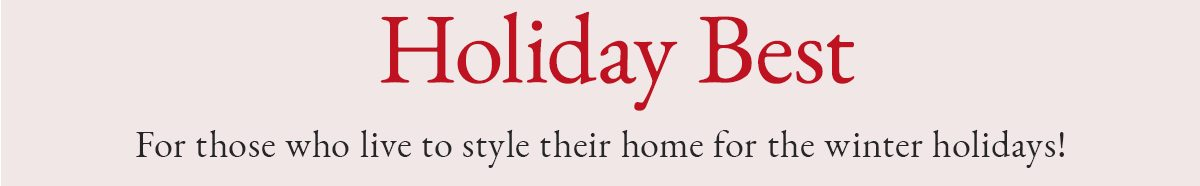 Holiday Best | SHOP NOW