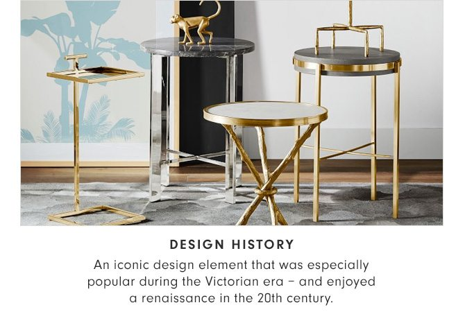 DESIGN HISTORY - An iconic design element that was especially popular during the Victorian era – and enjoyed a renaissance in the 20th century.