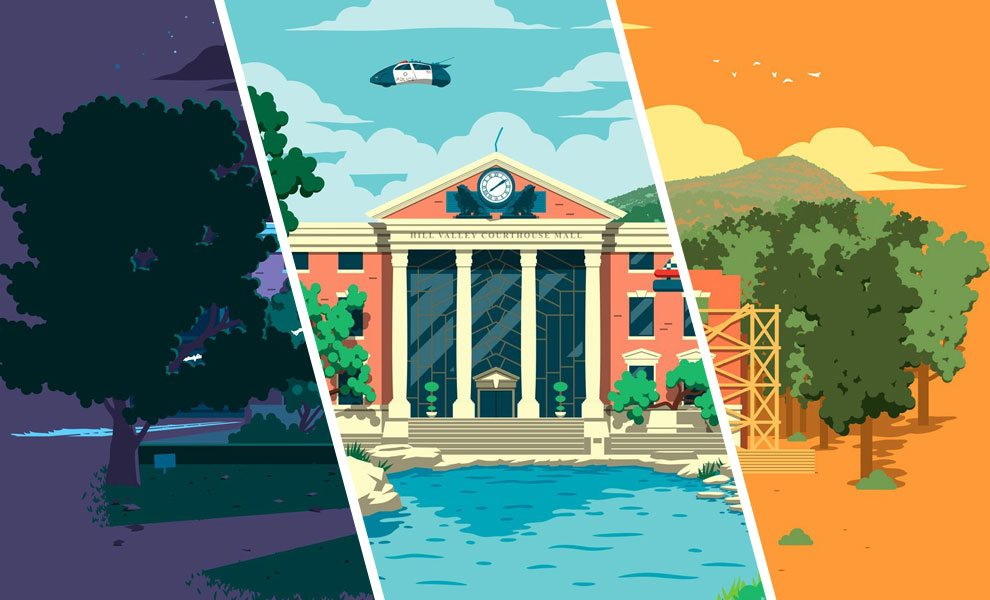 Back to the Future Fine Art Lithograph Set by Florey