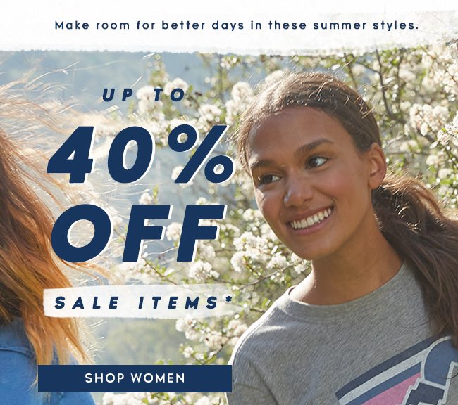 Shop Women's Sale and get up to 40% off