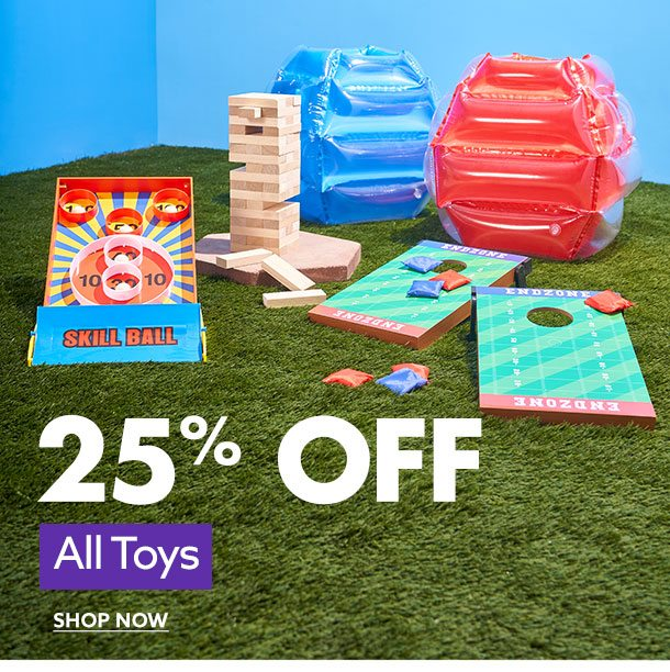 25% Off All Toys