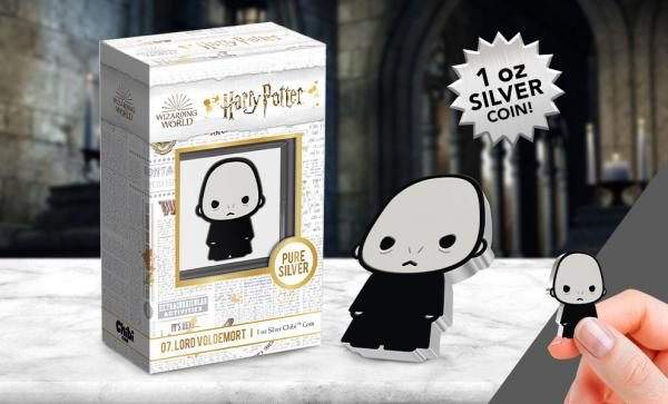 Lord Voldermort Chibi 1oz Silver Coin (New Zealand Mint)