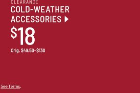 Clearance Cold-Weather Accessories $18