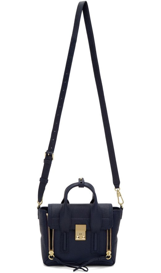 3.1 Phillip Lim - Navy Mini Pashli Satchel