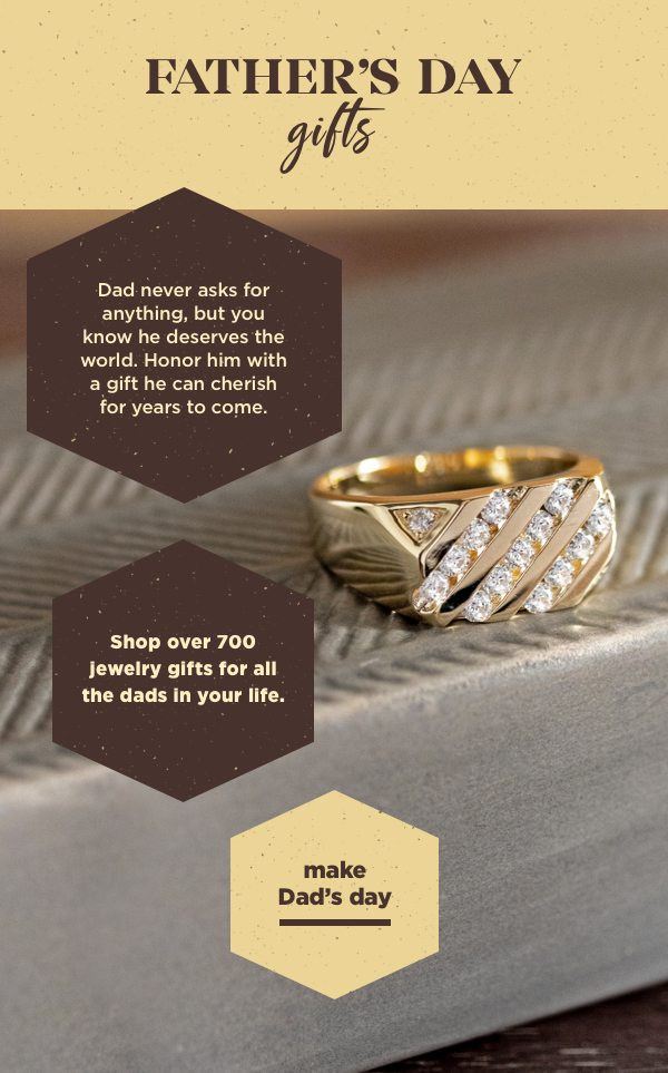 Shop over 700 jewelry gifts for all the dads in your life.