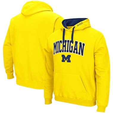 Michigan Wolverines Colosseum Arch & Logo 2.0 Pullover Hoodie - Maize