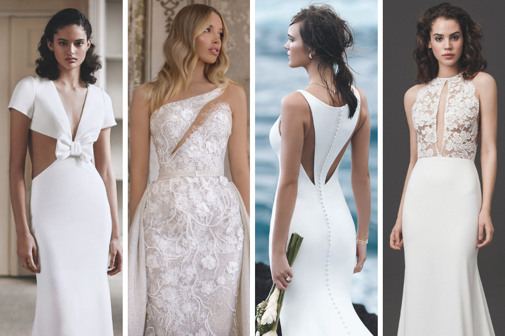 wedding gowns with cutouts
