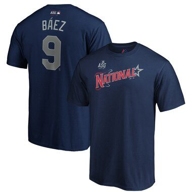 Javier Báez National League Majestic 2019 MLB All-Star Game Name & Number T-Shirt - Navy