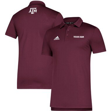 Texas A&M Aggies adidas Team Sideline Coordinator climalite Polo - Maroon