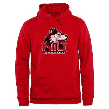 Northern Illinois Huskies Classic Primary Pullover Hoodie - Scarlet