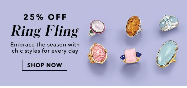 25% Off Ring Fling. Shop Now