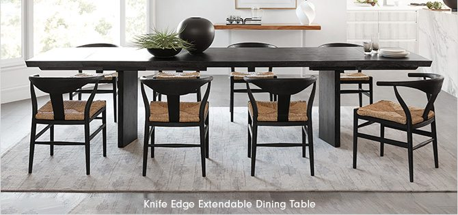 Knife Edge Extendable Dining Table