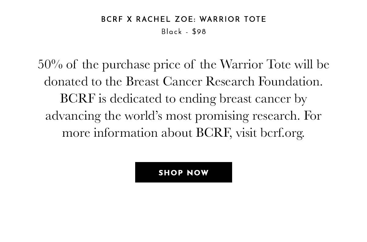 Introducing Shop Rachel Zoe x Breast Cancer Research Foundation